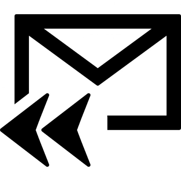 Mail reply all symbol for interface Icons.