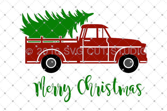 Christmas Tree Farm Truck Clipart.