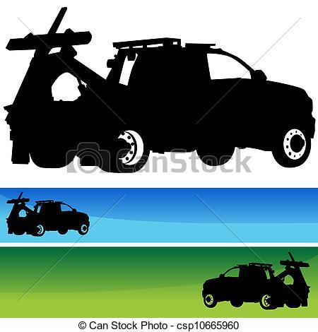 wrecker truck clipart #3