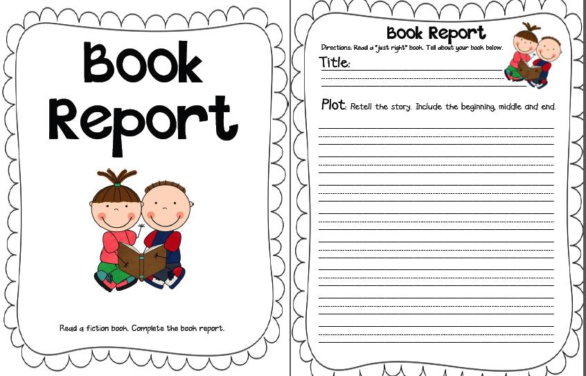 book report sheet
