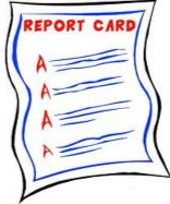 Straight A Report Card Clipart.