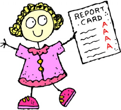 Report Card Free Clipart.
