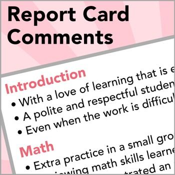 17 best ideas about Comments For Report Cards on Pinterest.