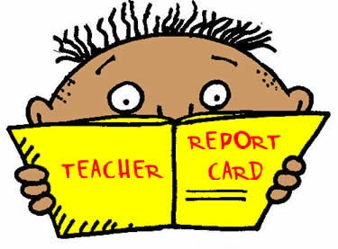 Report Card Writing Clipart.