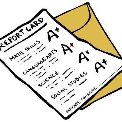 Report card clip art.