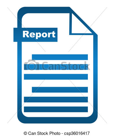 Clipart of Report Blue Icon.