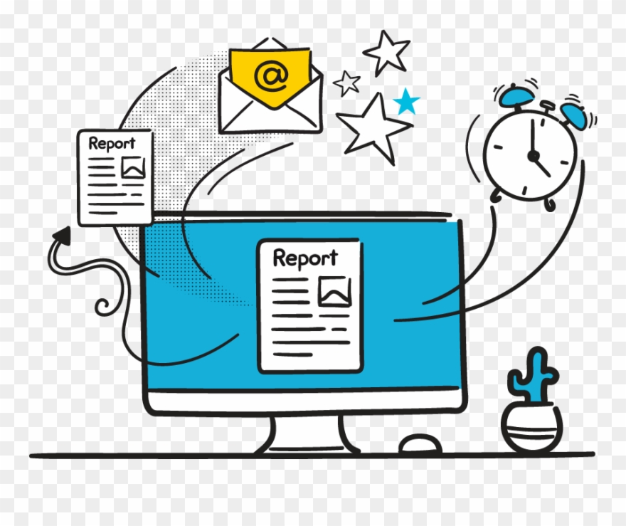 Automatically Schedule Reports Clipart (#3106612).