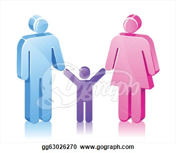 Clip Art Vector Group Of Stick Figures Represent A Family Of.