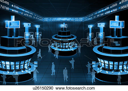 Stock Photography of Illustrative representation showing online.