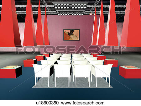 Stock Photography of Graphic representation of an auditorium.
