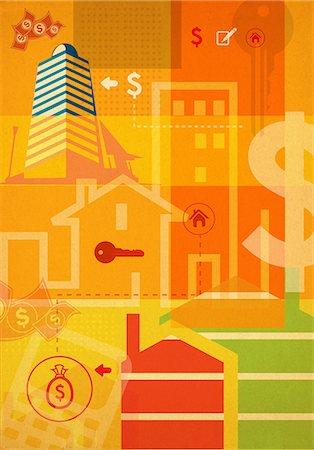 Bank building clip art images Stock Photos.