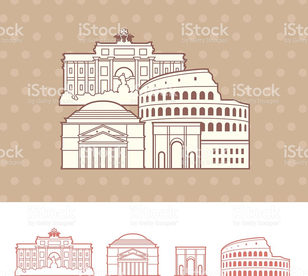 Rome Italy Cityscape Representation stock vector art 472301983.
