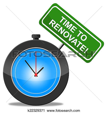 Clipart of Time To Renovate Represents Make Over And Modernize.