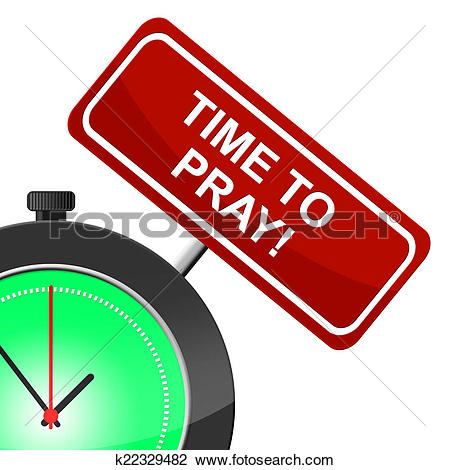 Clip Art of Time To Pray Represents Mosque God And Religious.