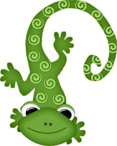 Cute reptile clipart.