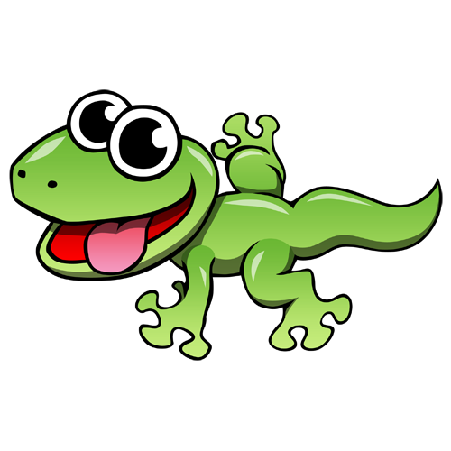 Lizard Cartoon Clip Art.