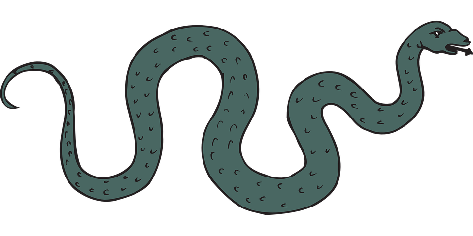 Free vector graphic: Snake, Green, Reptile, Hissing.
