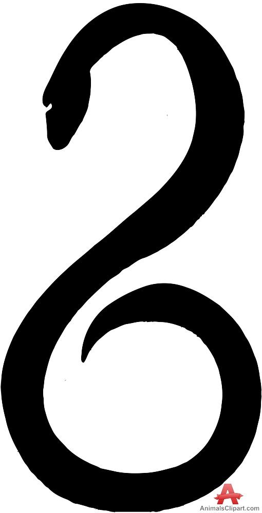 Snake Symbol Silhouette.