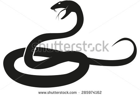 Snake Silhouette Stock Images, Royalty.