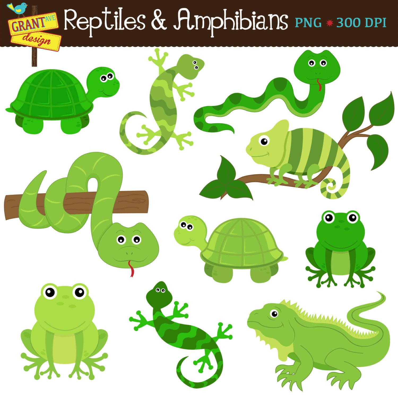 Cute Reptiles Clipart.