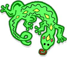 Free Clipart of Reptiles.