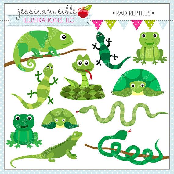 Reptiles Clipart.