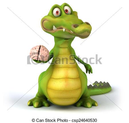 Drawings of Reptilian brain csp24640530.