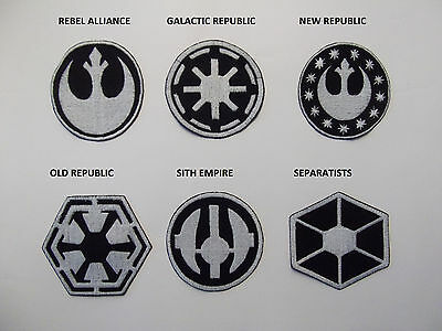 STAR WARS large sew on patches REBEL ALLIANCE, GALACTIC REPUBLIC, NEW  REPUBLIC,.
