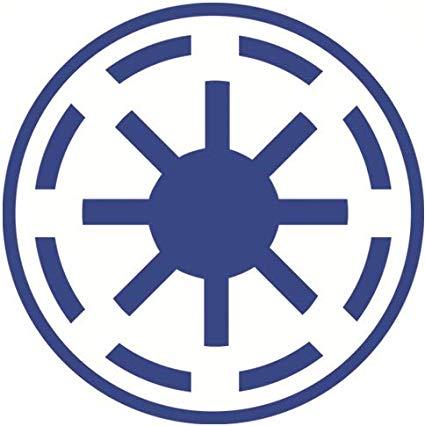 1 3/4 Inch Galactic Republic Roundel Emblem Logo Badge.