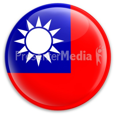 The Republic Of China Taiwan Button.