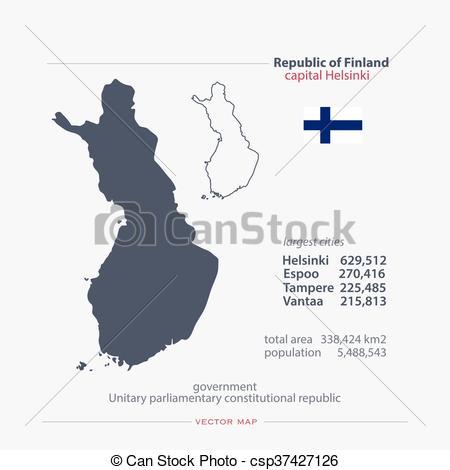 Vector Illustration of finland.