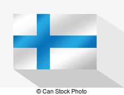 Clip Art Vector of Finland flag.