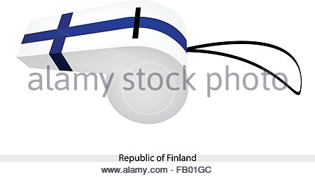 Flag Of Finland And Soccer Ball Stock Photo, Royalty Free Image.