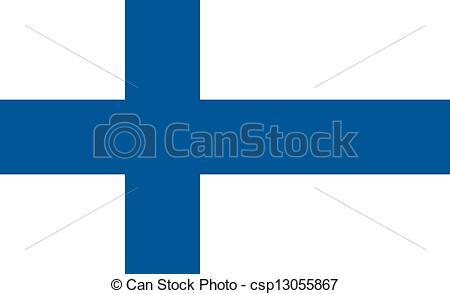Clip Art Vector of Finland flag.