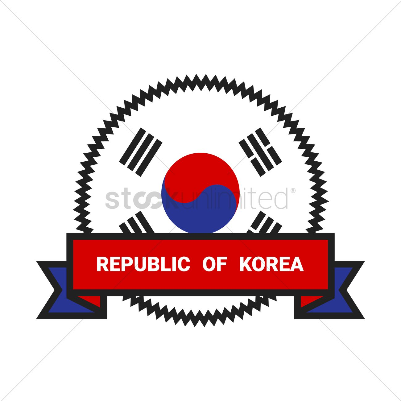 Republic of korea Vector Image.