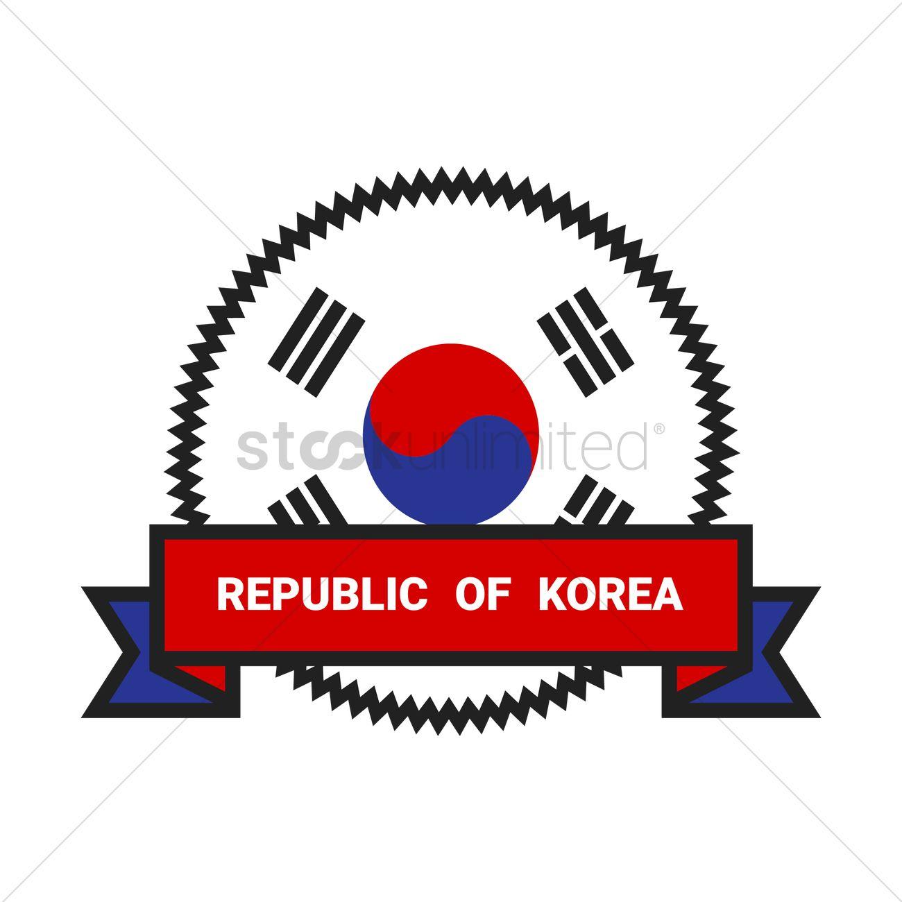 Republic of korea Vector Image.