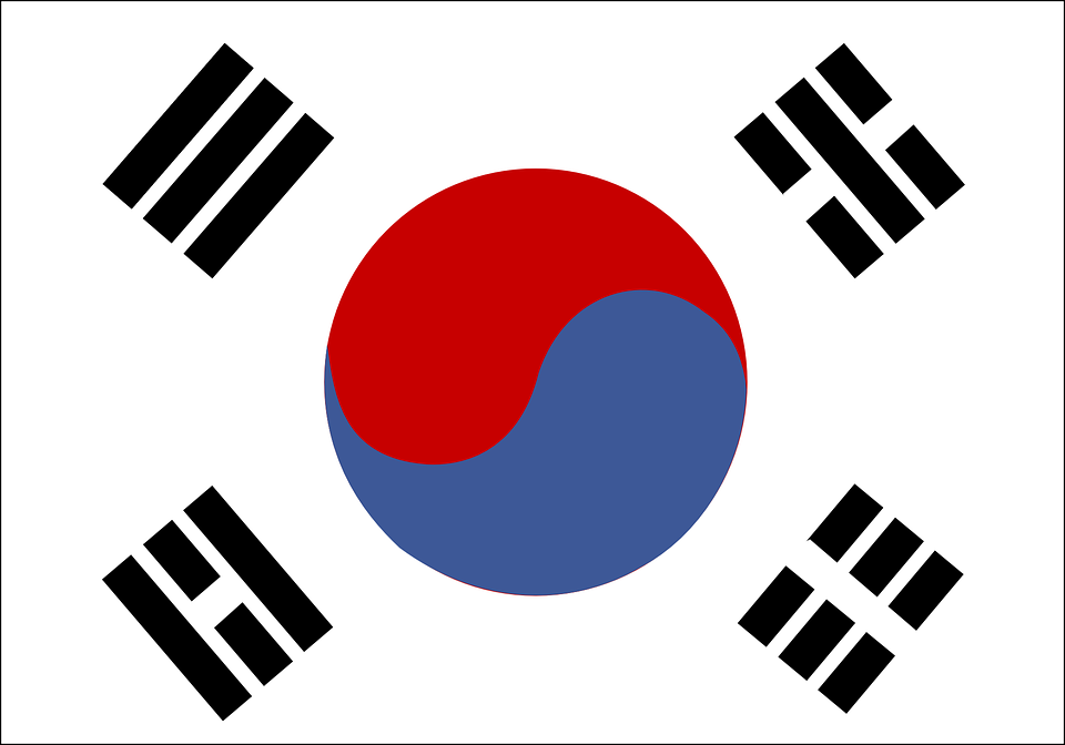 Free vector graphic: South Korea, Flag.