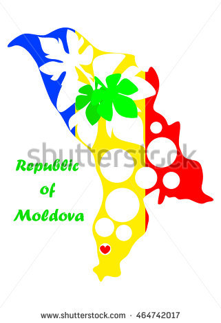 Moldavia Map Stock Photos, Royalty.