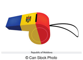 Vector Clip Art of Republic of Moldova.