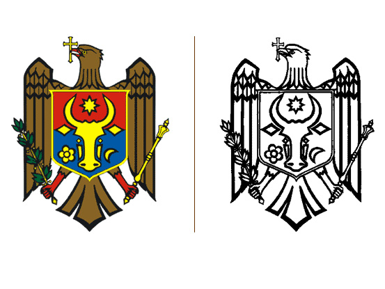 State Coat of Arms of the Republic of Moldova — Presidency of the.