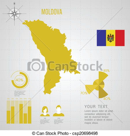 EPS Vectors of Republic of MOLDOVA World Map.