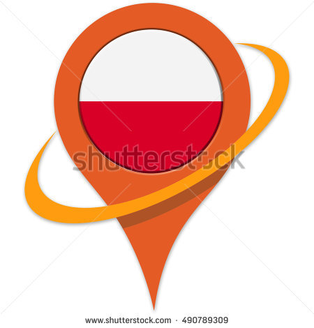 Poland Flag Sticker Stock Photos, Royalty.