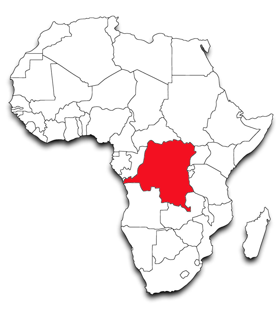Outline Map Of Democratic Republic Congo With Congo The Clipart.