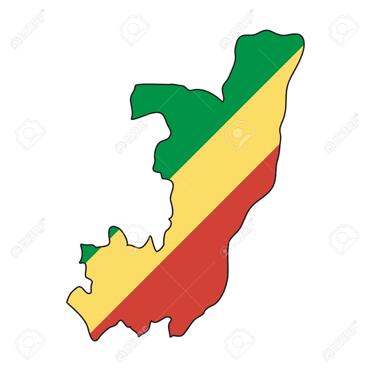 Map Flag Republic Of The Congo Royalty Free Cliparts, Vectors, And.