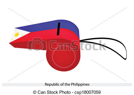 Clipart Vector of A Whistle of Republic of The Philippines.