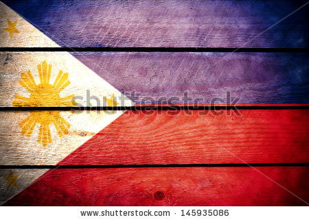 Filipino Flag Stock Images, Royalty.