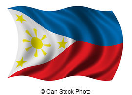 Stock Photo of Republic of the Philippines flag waving.