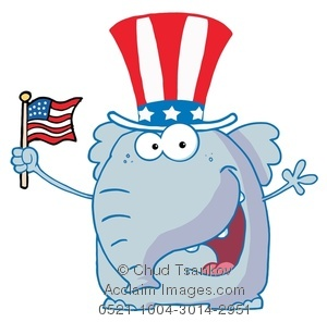 Gop Clipart With Flag.