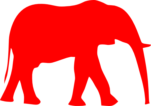 Free republican elephant clipart.