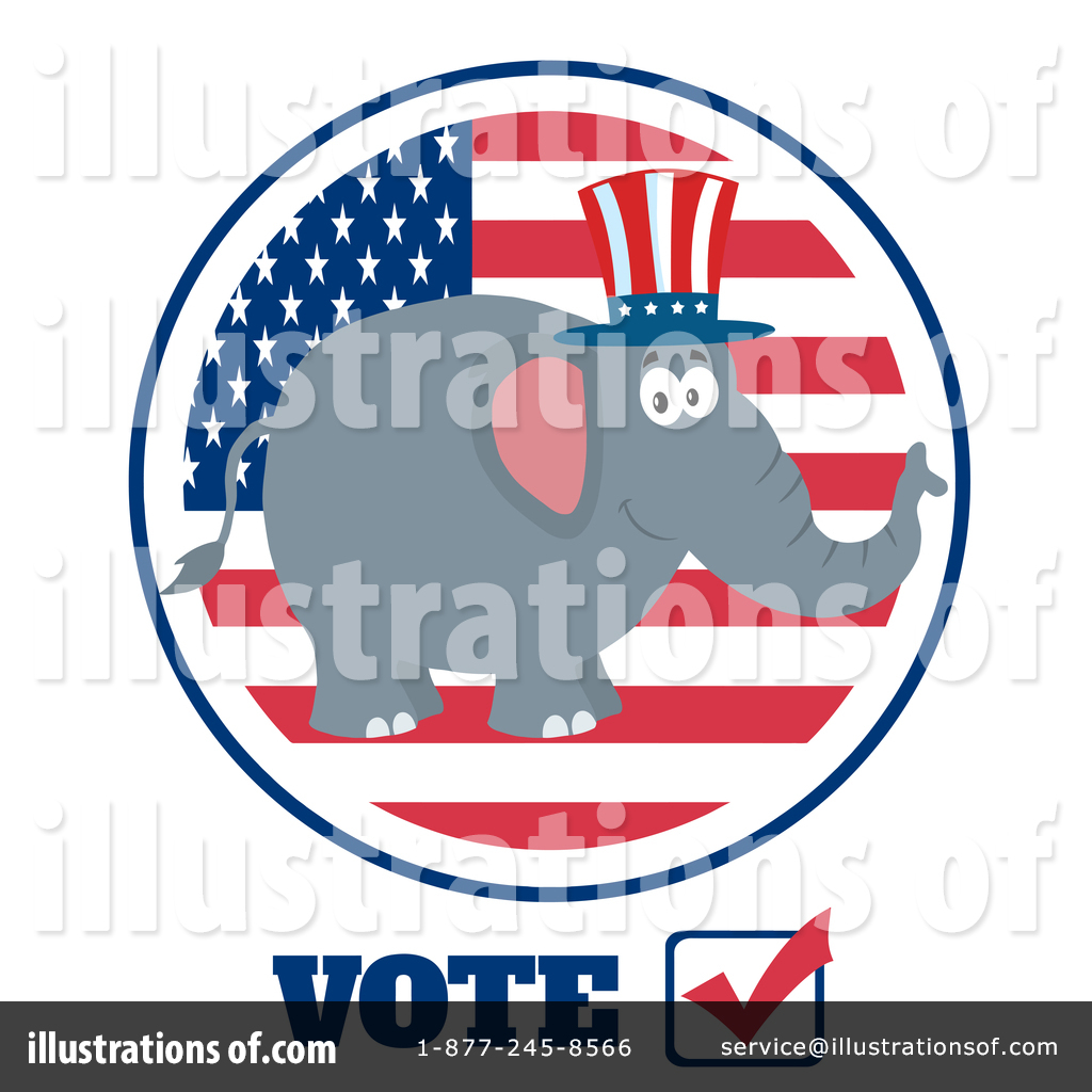 Republican Elephant Clipart #1389399.